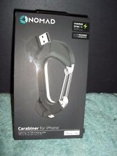 BRAND NEW NOMADCLIP CARABINER FOR iPHONE/iPAD USB TO LIGHTNING 8 PIN CHARGER
