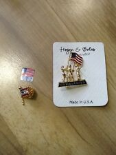 Hogan And Bolas God Bless America Pin Brooch Made In Usa And Flag Jewel Pin