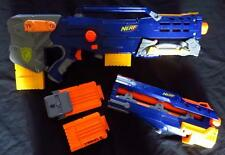 NERF N STRIKE LONGSHOT CS-6 DART GUN & CLIPS Set Lot Pretend Toy Boy rapid fire