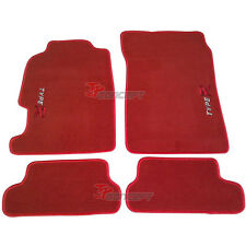 Fit 97-01 Honda Prelude Red Nylon Floor Mats Carpets BB5 BB6 BB7 BB8 BB9