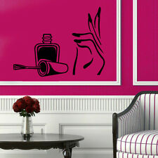 Wall Decals Manicure Nails Beauty Salon Vinyl Sticker Murals Wall Decor KG508