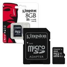 8GB KINGSTON Micro SD SDHC Memory Card 45MB/s UHS-1 Class 10 With Adapter 8GB