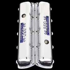 Chrome Valve Covers Fits Oldsmobile 350 Engines 350 Emblems blue