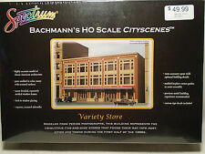 BACHMANN SPECTRUM #88004 HO SCALE CITYSCENES VARIETY STORE NEW IN BOX