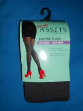 Spanx Love Your Assets~Shaping Tights~Textured Over Knee~Size 4~Dark Grey