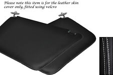 WHITE STITCHING FITS FORD TRANSIT CONNECT 2X SUN VISORS LEATHER COVERS ONLY