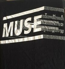 Muse The 2nd Law Xl T Shirt 2013 Tour Concert Black Short Sleeve Rare