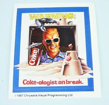 Set 5 Stück Coca Cola Max Headroom Aufkleber USA 1980 Sticker I'm a Coke-Ologist