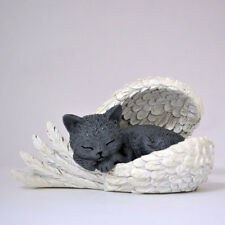 Heavens Purr-fect Blessing Cats Leave Paw Prints Angel Wings Figurine 0905417007