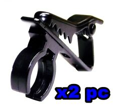 From Oz Quality 2PC Microphone Tie Clamp Clip Holder 4 Business MC Mic Stage +FP