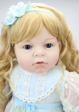 70cm Reborn Toddler Doll Lifelike Princess Girl Vinyl Long Hair Baby Cute Gift
