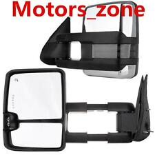 03-06 Silverado Sierra Chrome Towing Power Heated Mirrors Smoke LED Signals Pair
