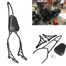 Black Detachable Backrest Pad Sissy Bar For Harley Davidson Sportster 04-Later