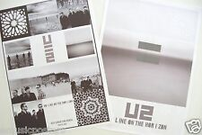 "U2 ""No Line On The Horizon"" 2-Sided Thailand Promo Poster -Group Shots & Artwork"