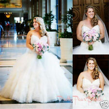 Plus Size A Line Wedding Dress Bridal Gown Custom Plus Size 18 20 22 24 26 28 30