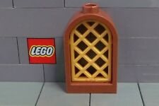 LEGO: CASTLE: Arched Window 1 x 2 x  2 (#30044 & 30046) Red Brown & Pearl Gold