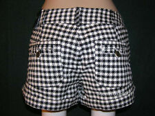 NEW Aeropostale Junior Girls Jimmy Z Black & White Plaid Shorts Size 2