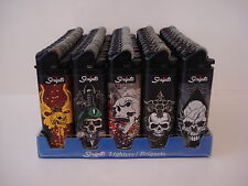 50 Scripto Lighters Regular Size Lighter Skull Design Series
