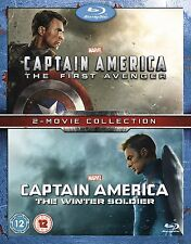 CAPTAIN AMERICA FIRST AVENGER & WINTER SOLDIER BLU-RAY DISC SET REGION-FREE NEW