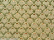 Zoffany Curtain / Upholstery Fabric COQUILLE 3.5m Green/Gold Weave Design 350cm
