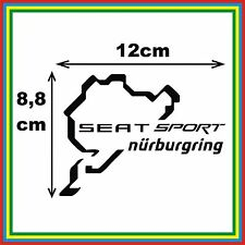 SEAT SPORT NURBURGRING - PEGATINA VINILO STICKER DECAL COCHE CAR RALLY MOTO MTB