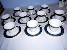 Royal Doulton Biltmore Footed Cups and Saucers (10 Sets)  H5189 - Excellent