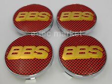 4 BBS Red Gold Carbon Fiber Center 2.4'' Caps Tire Cap Hub