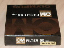 OLYMPUS OM ZUIKO 55mm UV FILTER NEW IN BOX