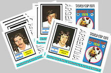ARGENTINA - 1974 WORLD CUP  SERIES 1 - COLLECTORS POSTCARD SET