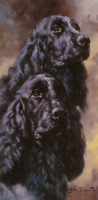 "COCKER SPANIEL BLACK DOG ART LIMITED EDITION PRINT - ""Black Beauties"" - # 18/95"
