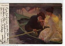 GUILLERN Romantic Glamour Girl Lovers Donnina Barca Primus PC Viaggiata 1916