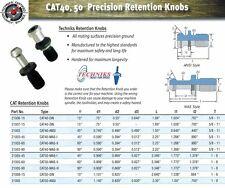 Techniks CAT40 Retention Knob 21003-45 Solid Pull Stud 45 Degrees 20 Pcs