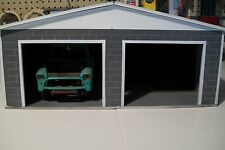 HAND MADE 2 CAR PERSONAL GARAGE  FOR 1:18 SCALE DIECAST BY: cbcustomtoys