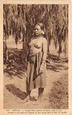 VIETNAM, DEGAR - MONTAGNARD SEMI-NUDE NATIVE WOMAN WEARING JEWELRY used c 1920's