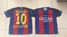 KIDS BARCELONA / BARCA  10 LIONEL MESSI FOOTBALL TEE SHIRT - SIZE  6-8 YEAR OLDS
