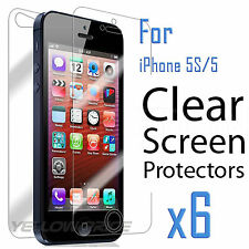 6x (Front and Back) Anti-scratch HD Screen Protector Cloth for iPhone SE 5 5G 5C