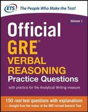 Official GRE Verbal Reasoning Practice Questions by Educational Testing Service
