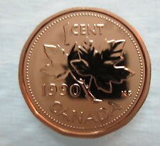 1990 CANADA 1 CENT PROOF-LIKE PENNY