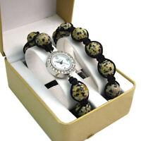 ECHO' Beautiful Semi-precious Shamballa Style Watch and Bracelet Set no.2