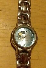 Vtg unusual Faded Glory moon phase ladies watch, running with new battery NR F
