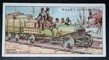 French Army  Motor Railway Engine     World War 1  1916  Vintage Card  VGC