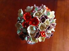 Vtg Millinery Flowers Forget Me Not Earth tone Mix for Doll + Hat Ginny ET