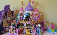 HUGE LOT 52 My Little Pony MLP W/ Castles, Cars, Accessories+RARE DERPY, ZECORA
