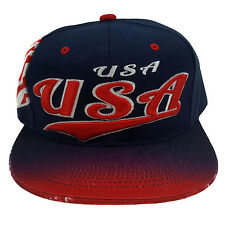 USA EMBROIDERED FLAT FLASH Snapback Cap