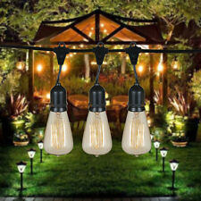 ST64 Vintage Edison Outdoor String Lights - 48 Foot String With 15 Edison Bulbs