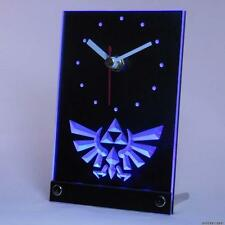 The Legend of Zelda Triforce 3D Table Desk Clock NES SNES N64 Wii WiiU PS4 PS3