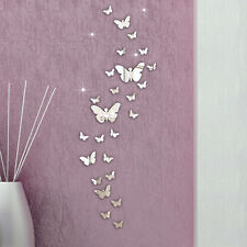 30PC Butterfly Combination 3D Mirror Wall Stickers Home Decoration DIY Elegant