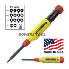 Megapro Robertson Square 15 in 1 Milti Bit Screwdriver Plus Phillip Flat USA