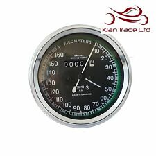 Speedometer Smiths Replica 0-160 KPH Black Dial Face Speedo Reproduction