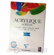 Clairefontaine Acrylique Acrylic Heavy Weight 360gsm Artist Pad. A4. 10 Sheets